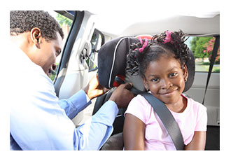 NHTSA Father Adjusts Booster Seat